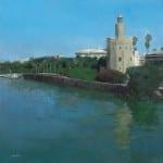 Al otro lado del río II (50x50)