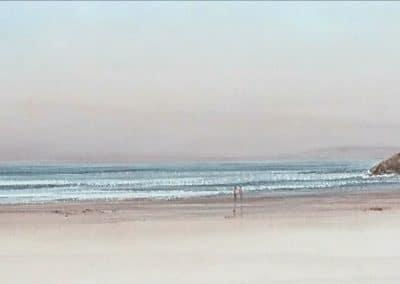 Playa de Oyambre-Acuarela-25x150cms.