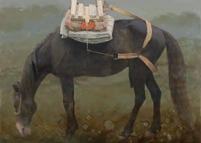 Caballo negro-Óleo-100x130cms.