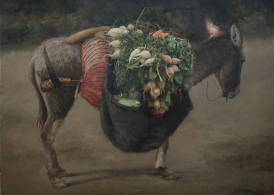 Mercadillo ambulante-Óleo-98x131cms.