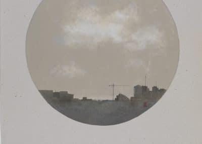 Nube sobre la ciudad I-O-P-30cms.Diametro