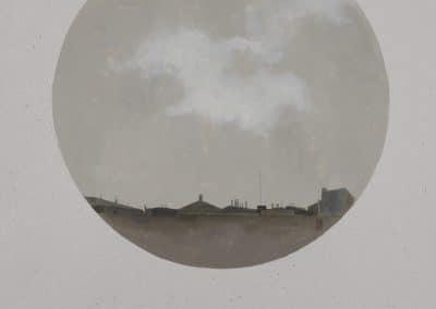 Nube sobre la ciudad II-O-P-30cms.Diametro