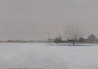 Primera nevada-O-T-40x93cms.