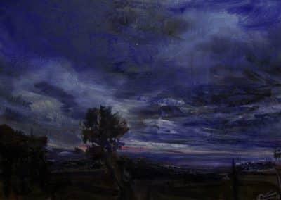 Luz en los margenes-24x36cm.Tecnica mixta Papel-2011