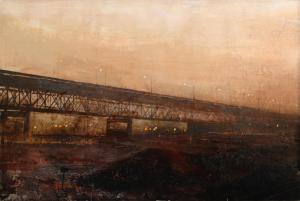 Alejandro Quincoces - El viejo puente de Hammond-O.T-91x136cms.
