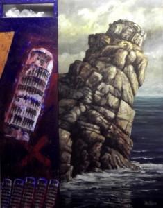 Roberto Zalbidea - ELEMENTOS INCLINADOS -T.mixta-162x126cms.