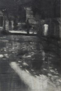 Figura en un jardín II 90x60